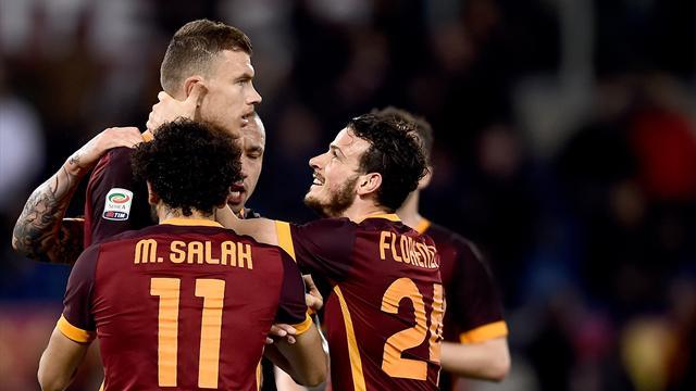 Portée par Dzeko et Salah, la Roma n'a fait qu'une bouchée de Palerme