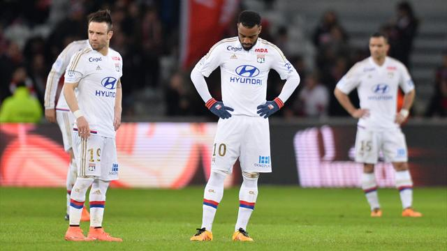 Grenier, Lacazette, Valbuena, Jallet : les cadres lyonnais ont failli à Lille