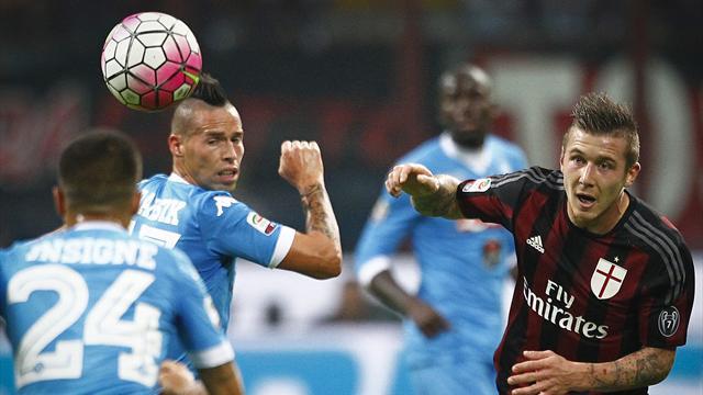 Il Napoli batte il Milan e l'arbitro
