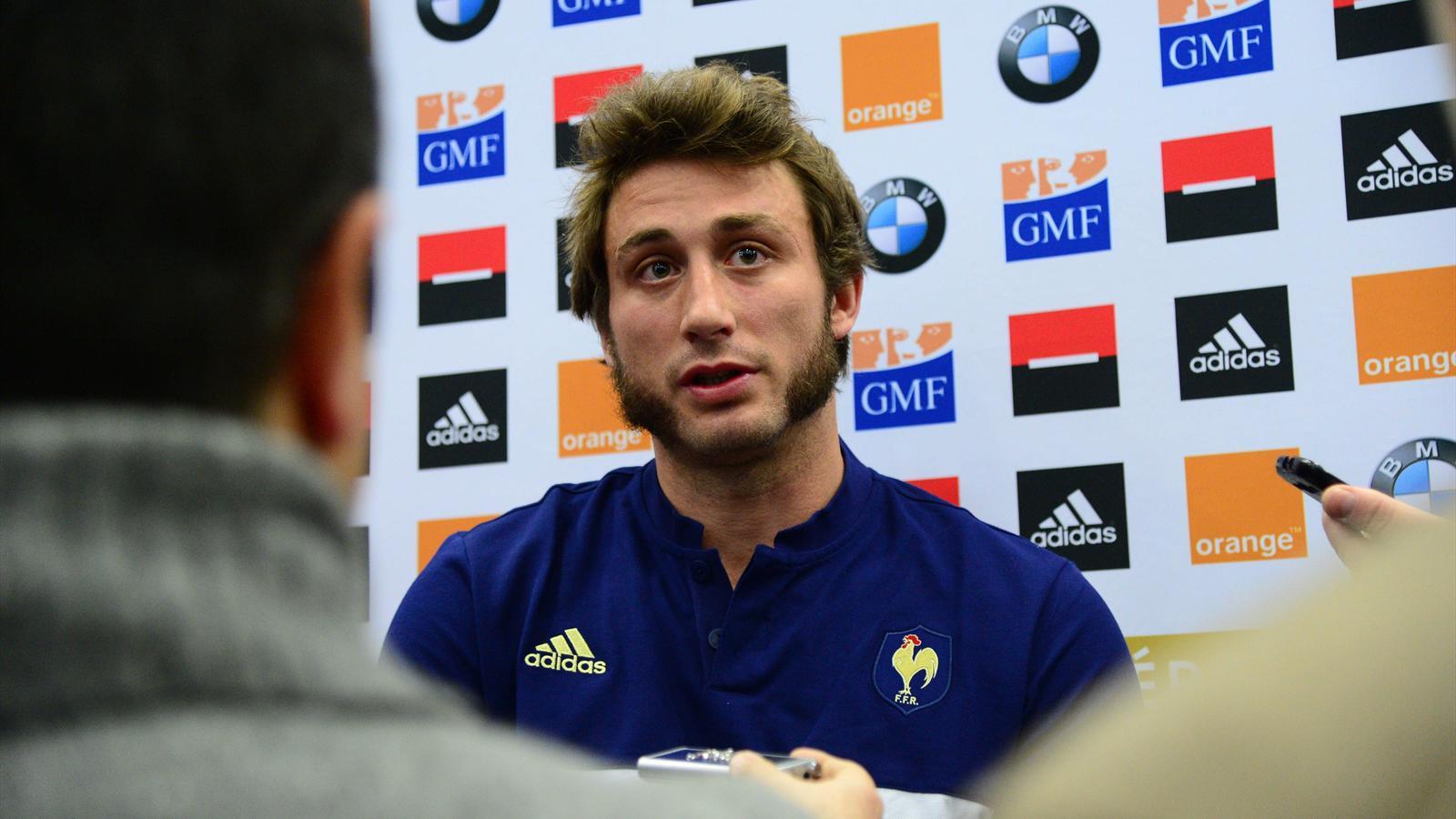 Maxime Médard (XV de France) à Marcoussis - 23 février 2016