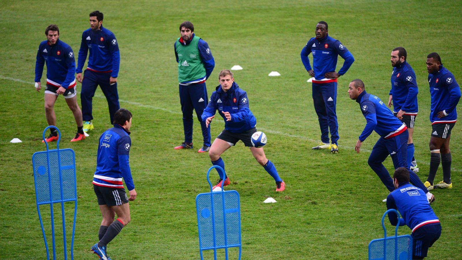 Jules Plisson (XV de France) à l'entraînement au CNR - 23 février 2016