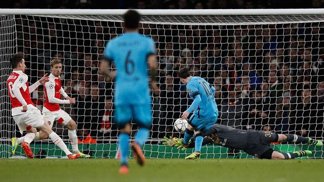 Encore une fois, Messi a eu la peau d'Arsenal