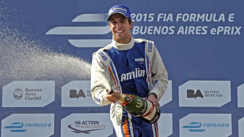 Formula E Amlin Aguri's Portuguese driver Antonio Felix da Costa