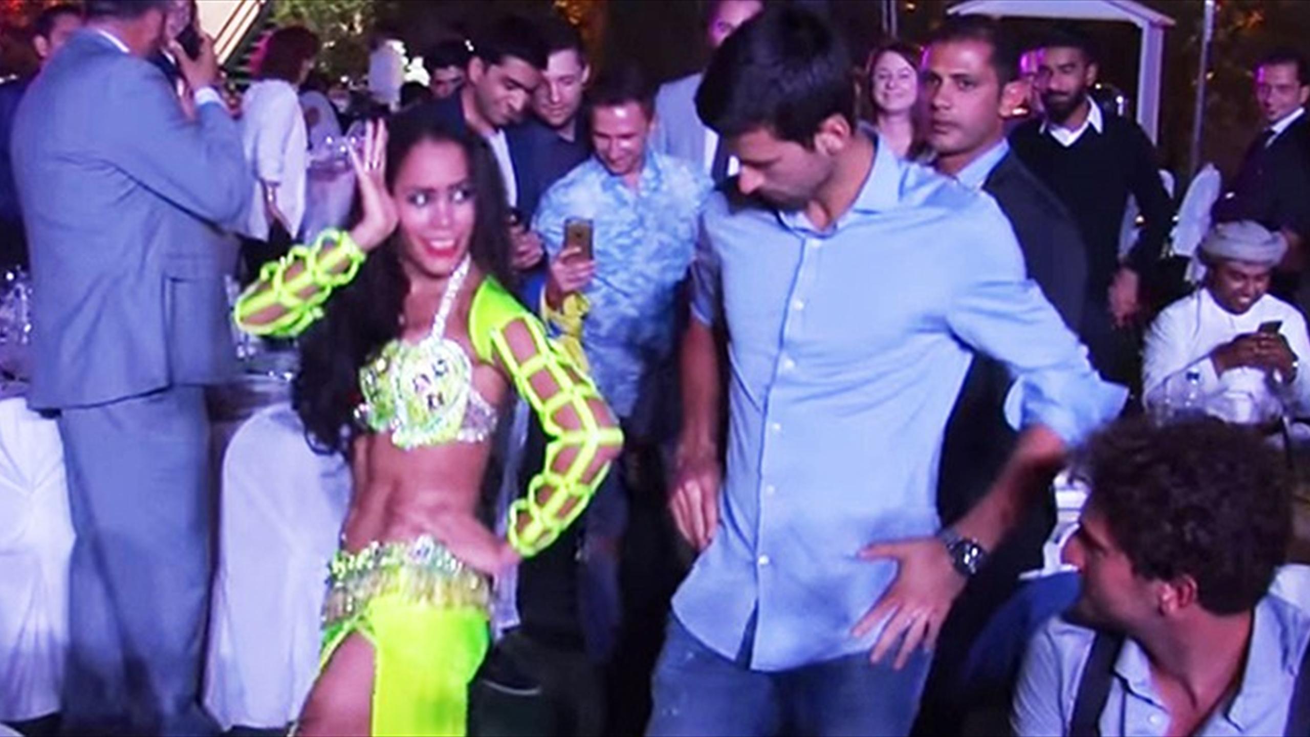Novak Djokovic belly-dancing in Dubai (Youtube)