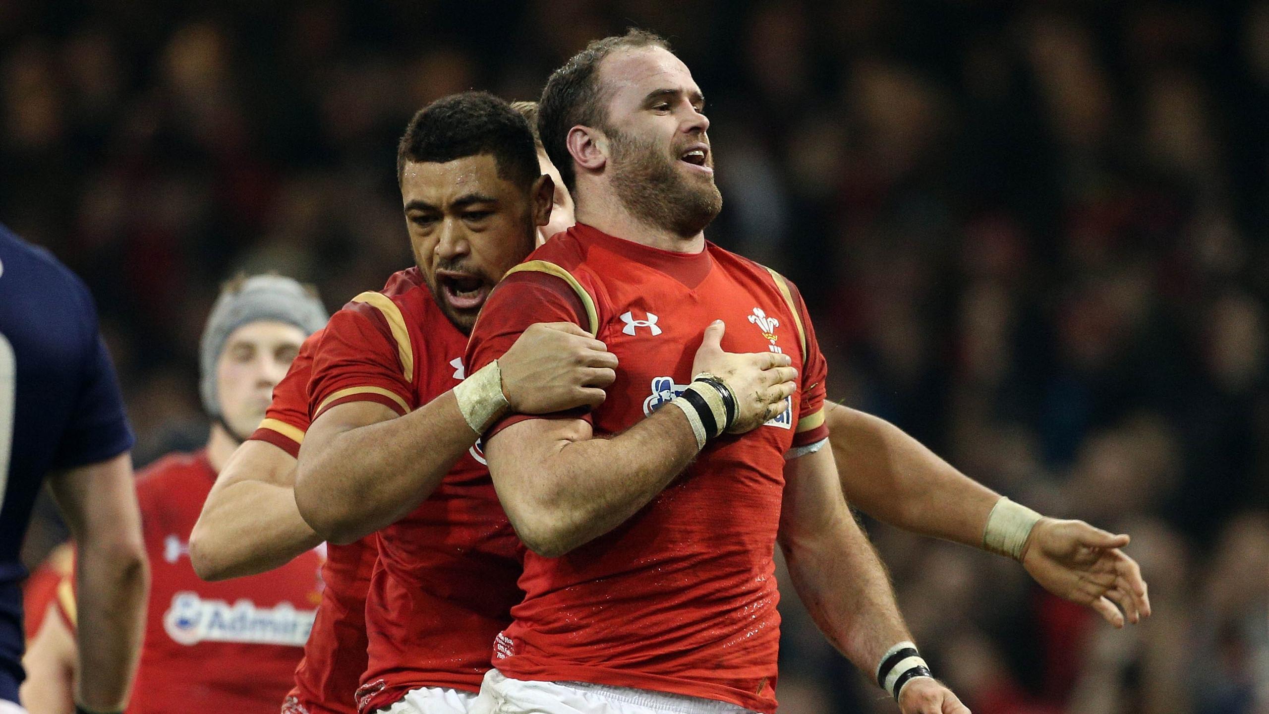 Jamie Roberts et Toby Faletau (pays de Galles) - 13 février 2016