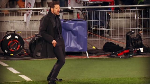 Quand Simeone vit le match au bord du terrain, c'est un vrai show