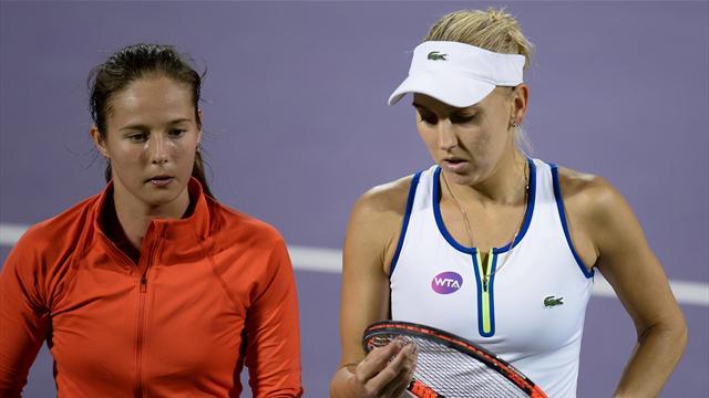 Елена Веснина и Дарья Касаткина проиграли в полуфинале парного разряда