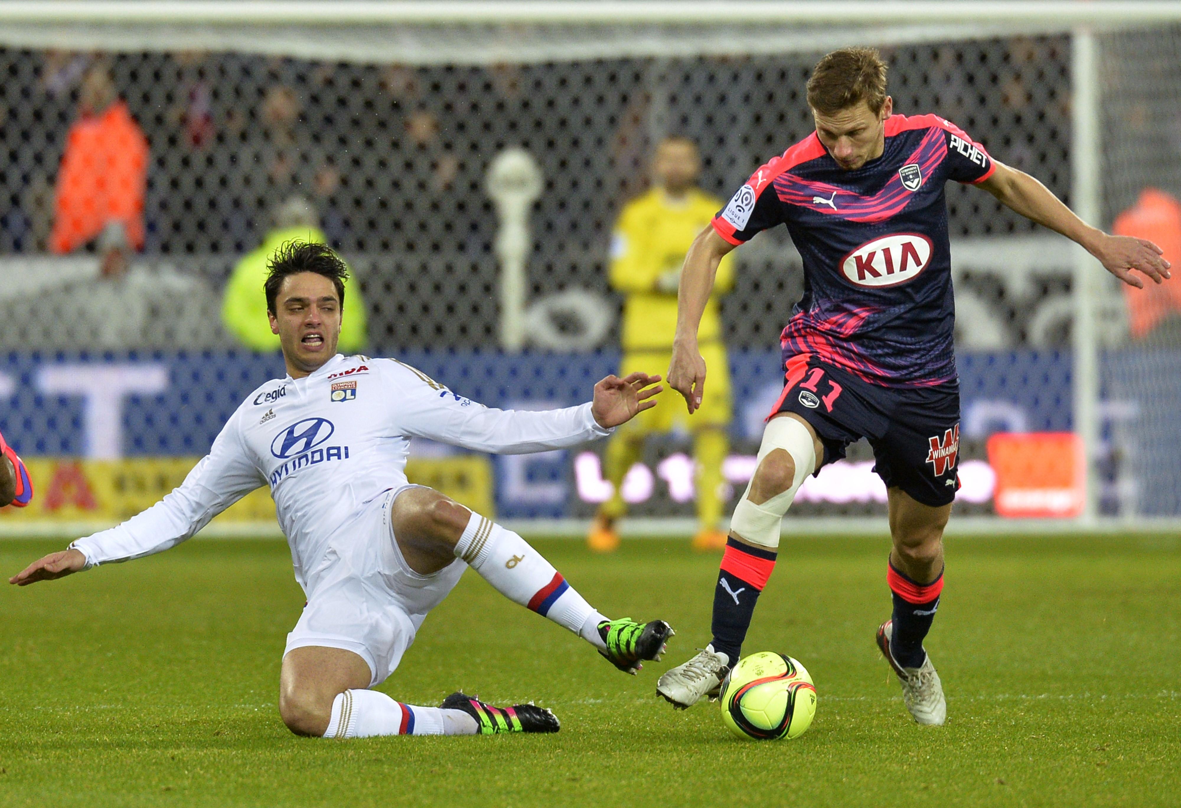 Clément Grenier lors de Lyon - Bordeaux en Ligue 1 le 3 février 2016