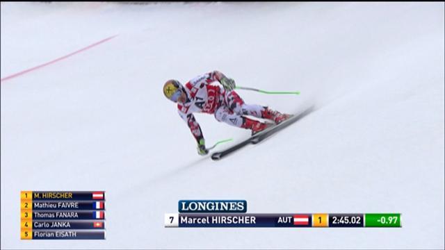 Hirscher a fait une solide seconde manche mais ça n'a pas suffi