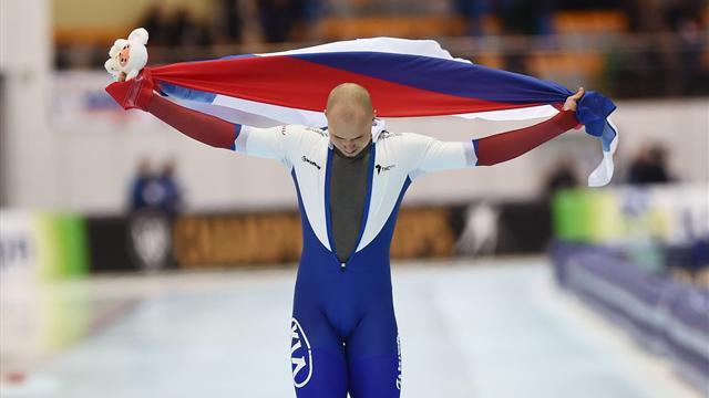 Кулижников стал первым русским конькобежцем, выигравшим ЧМ по спринтерскому многоборью 3 раза
