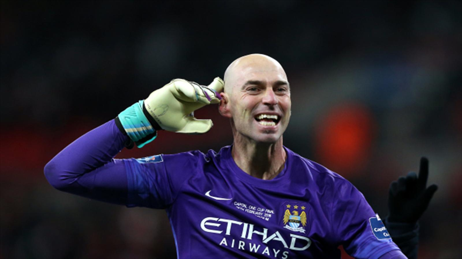 Willy Cabellero Stars In Shootout As Manchester City Claim