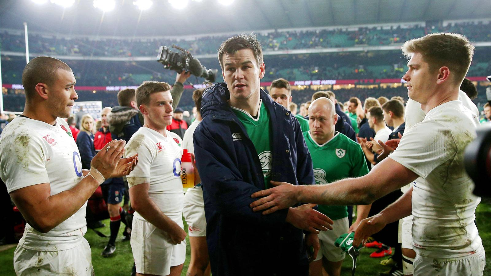 Jonathan Sexton (Irlande) face à l'Angleterre - 27 févrierc 2016