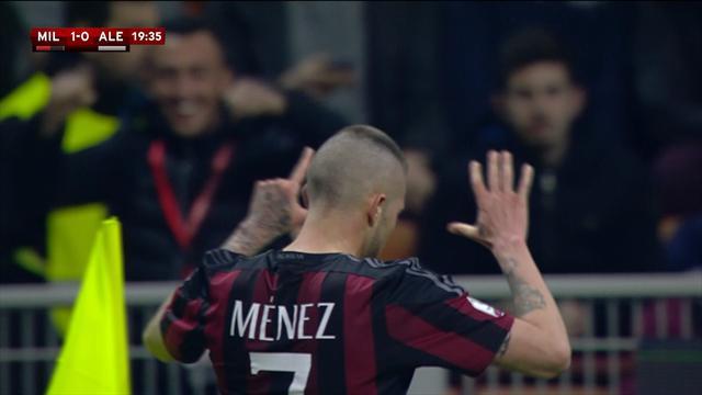 Deux doublés de Ménez et Romagnoli, un but de Balotelli : Milan s'est baladé et file en finale