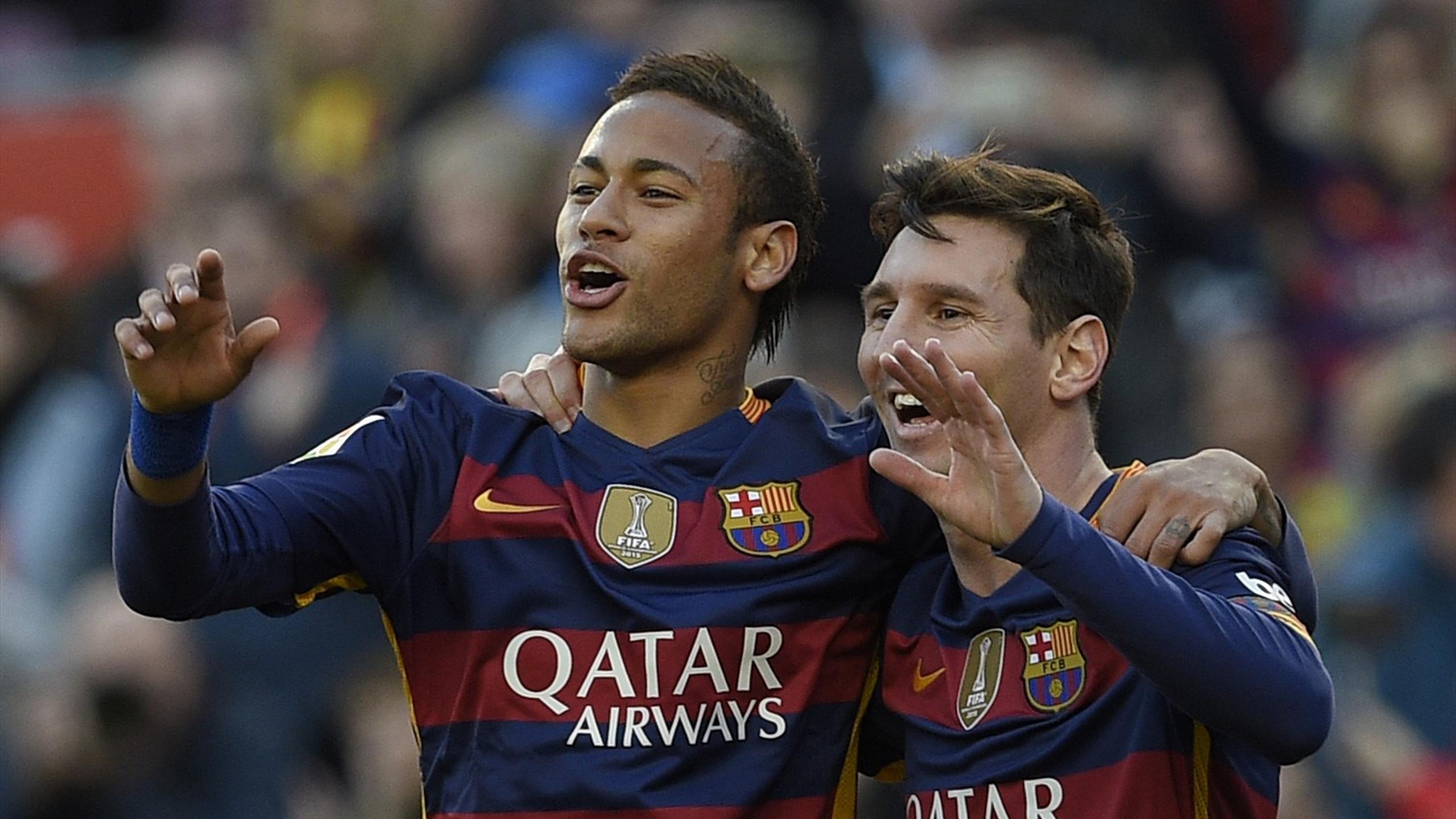 Neymar et Lionel Messi (FC Barcelone)