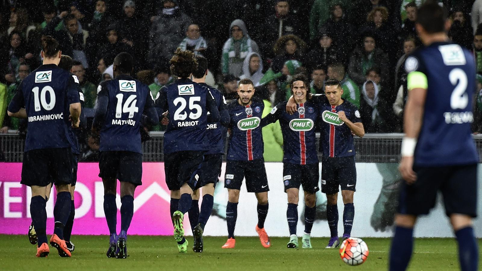 Vainqueur saint etienne 1 3 le psg a parfaitement - Resultats coupe de france football 2015 ...