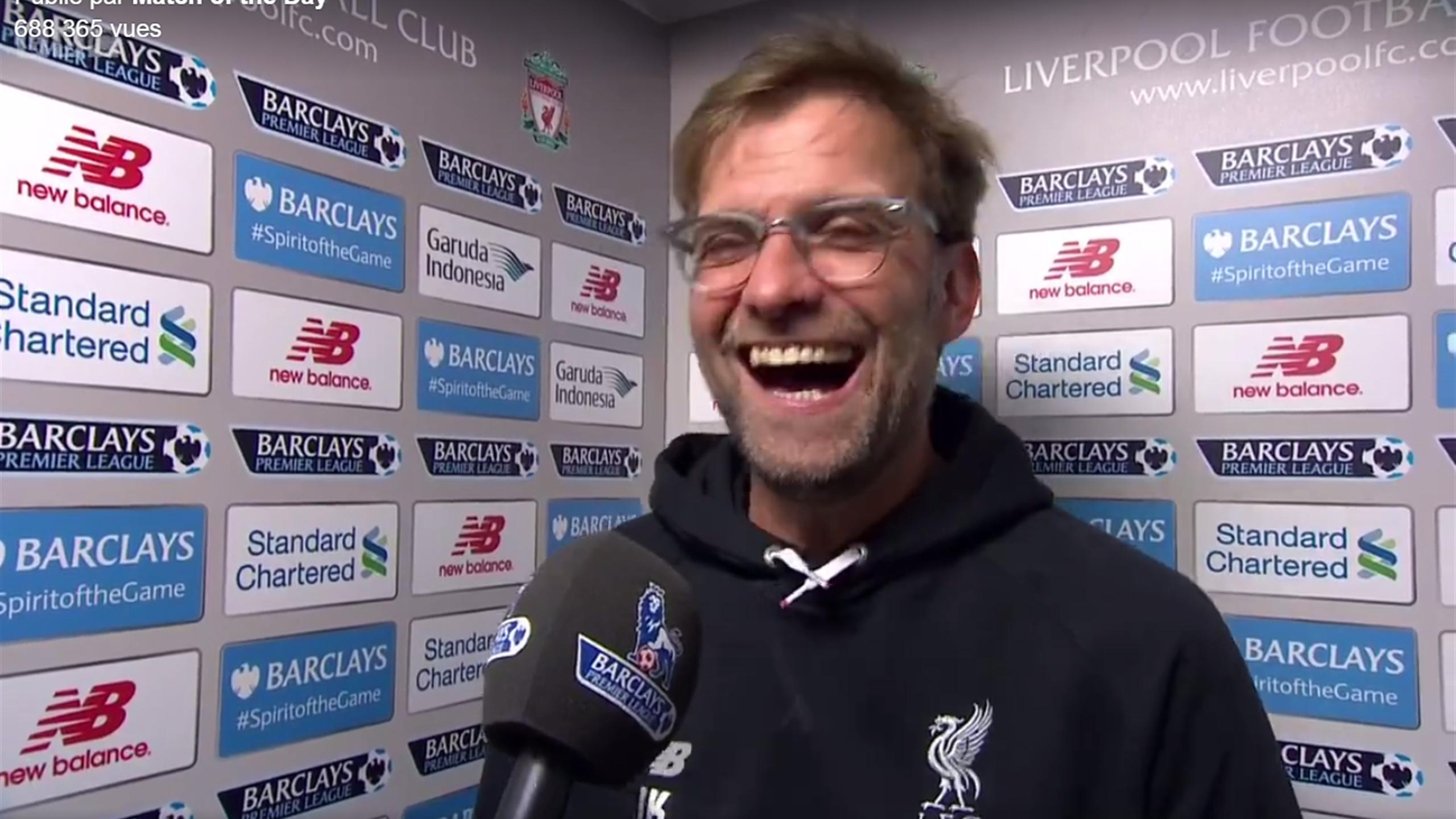 La défaite du Bayern a bien fait rire Klopp...