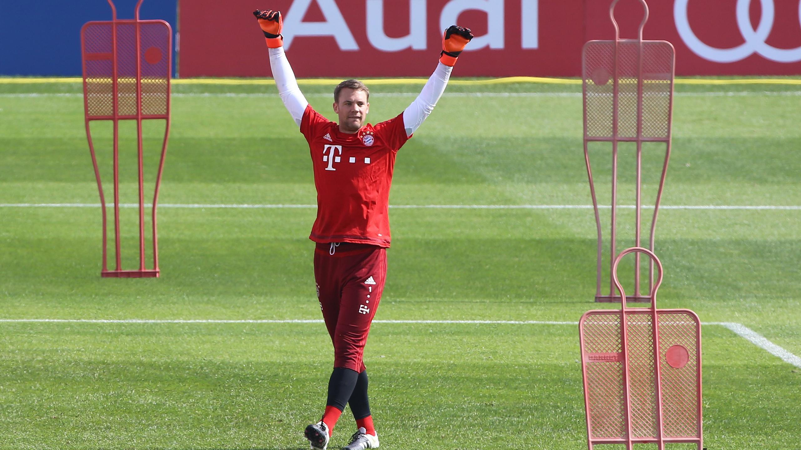 Manuel Neuer (Bayern Munich) à l'entraînement, le 7 janvier 2016