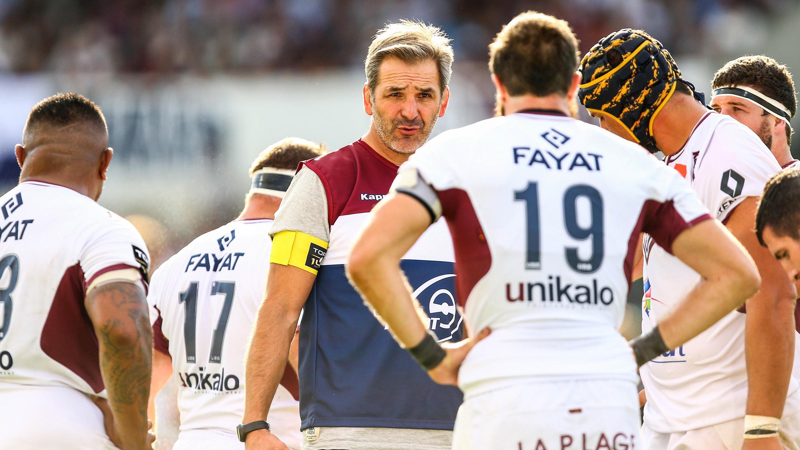 Régis Sonnes, l'entraîneur des avants de Bordeaux-Bègles