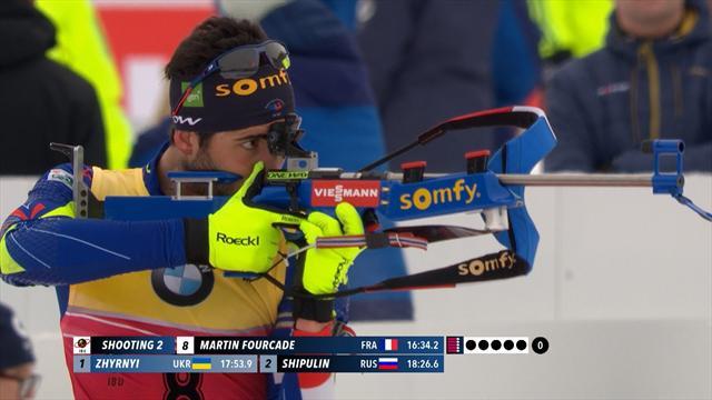 Martin Fourcade, impérial au tir et sur les skis sur 10km sprint, remporte son 8e titre