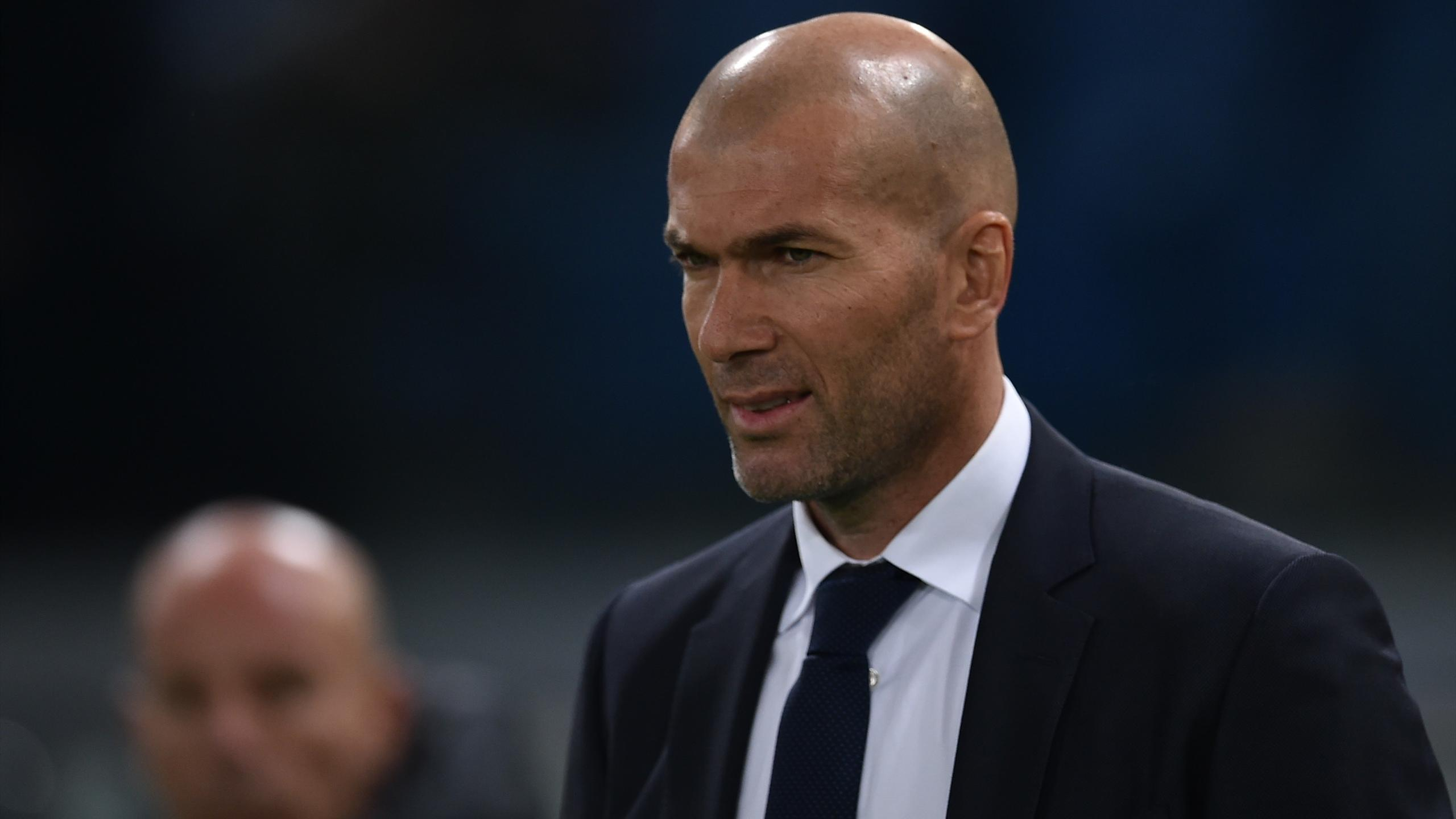 L'entraîneur du Real Madrid, Zinedine Zidane