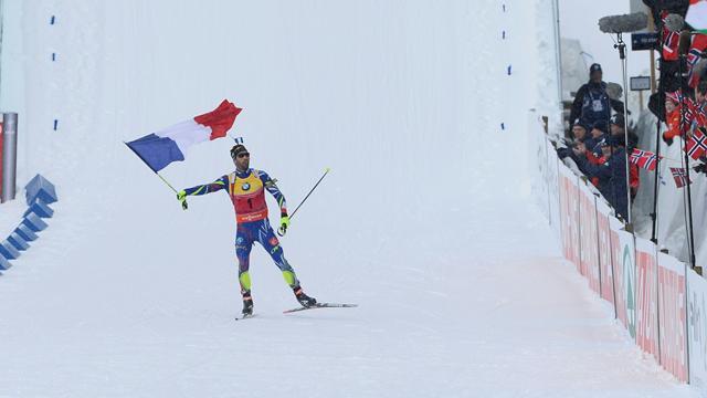 Devant une ola et le drapeau français à la main, Fourcade a pu savourer son nouveau sacre