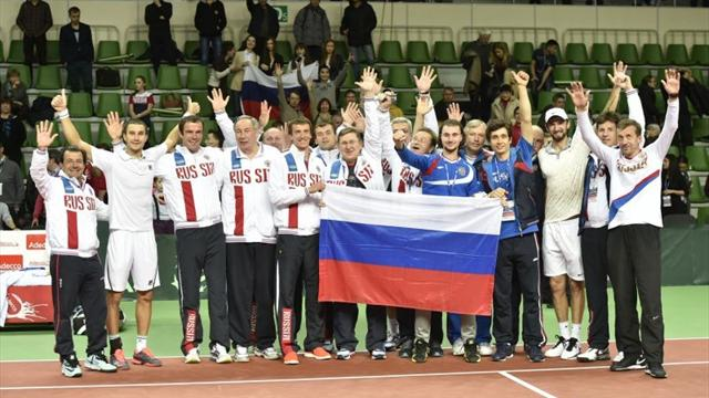 Россия всухую обыграла шведов на Кубке Дэвиса
