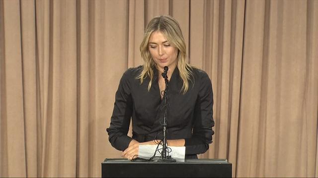 """Sharapova : """"Je ne veux pas que ma carrière se termine comme ça"""""""
