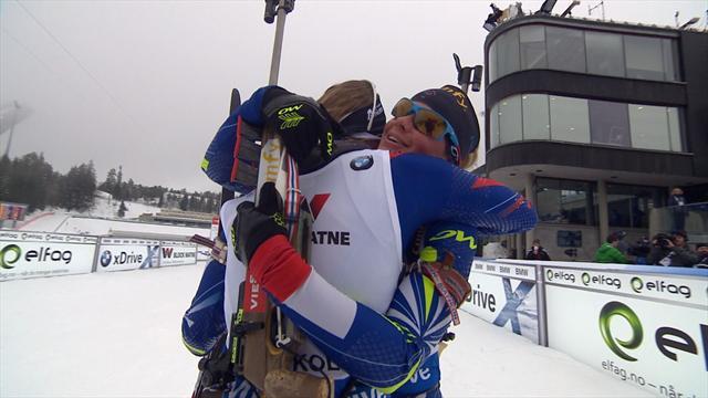 15 km dames : Dorin-Habert en or, Bescond en argent, quel doublé pour le biathlon tricolore !