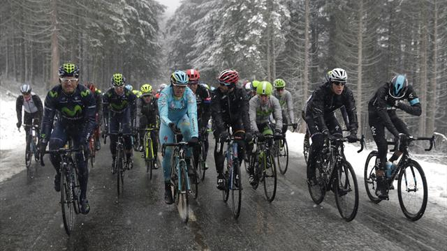 Stage three at Paris-Nice cancelled after snow