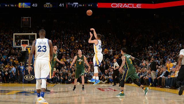 Curry toujours plus haut, plus loin, plus fort avec un buzzer beater : le Top 10 de la nuit