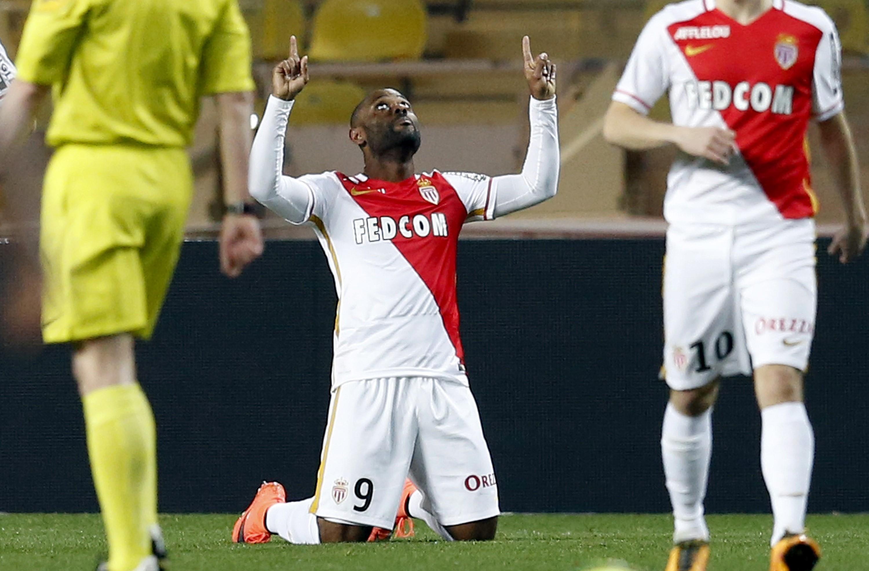 Vagner Love, auteur d'un doublé pour Monaco contre Reims en Ligue 1, le 11 mars 2016