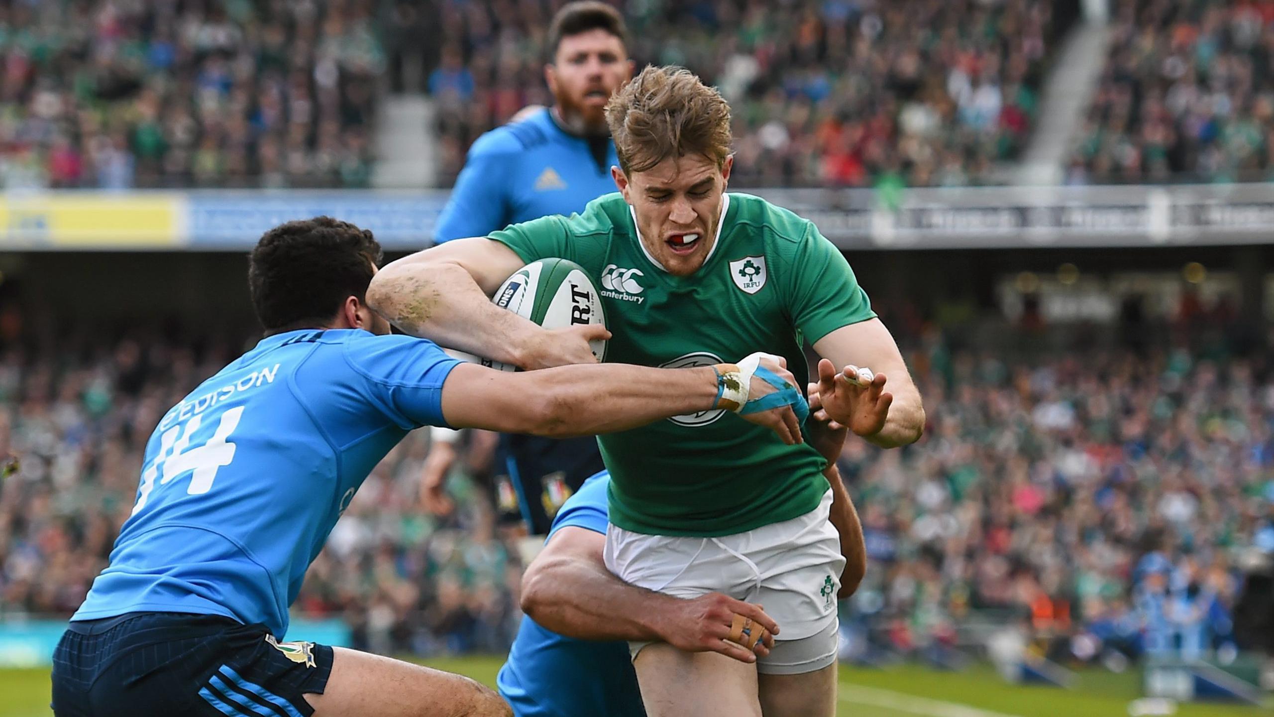 Andrew Trimble (Irlande) face à l'Italie - 12 mars 2016