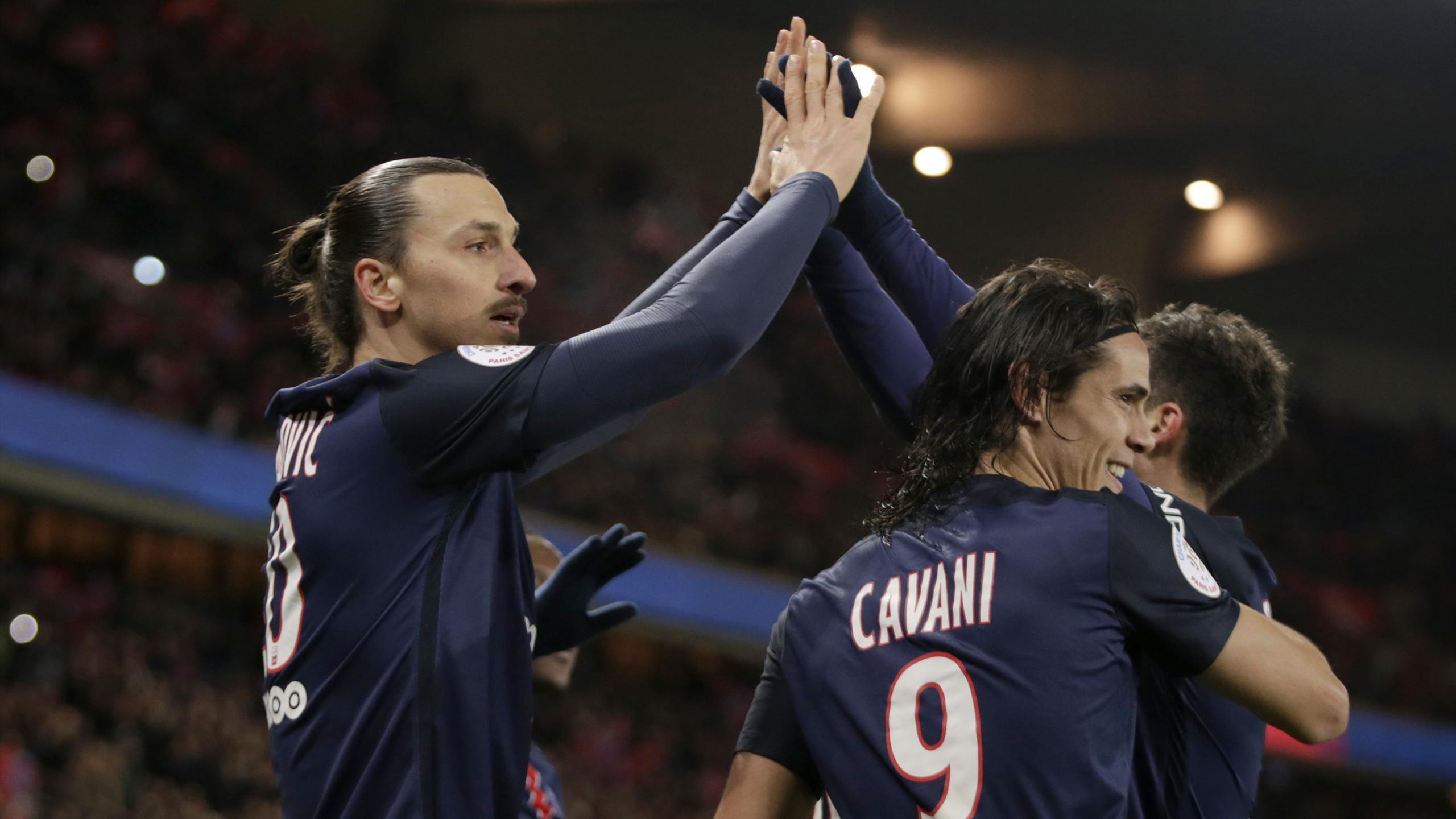 Ibrahimovic et Cavani (PSG) en janvier 2016