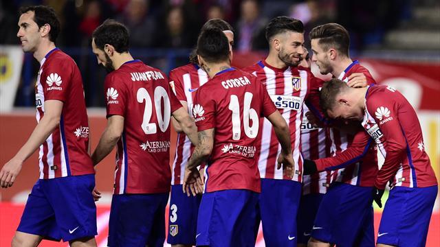 Porté par un nouveau but de Griezmann, l'Atlético enchaîne