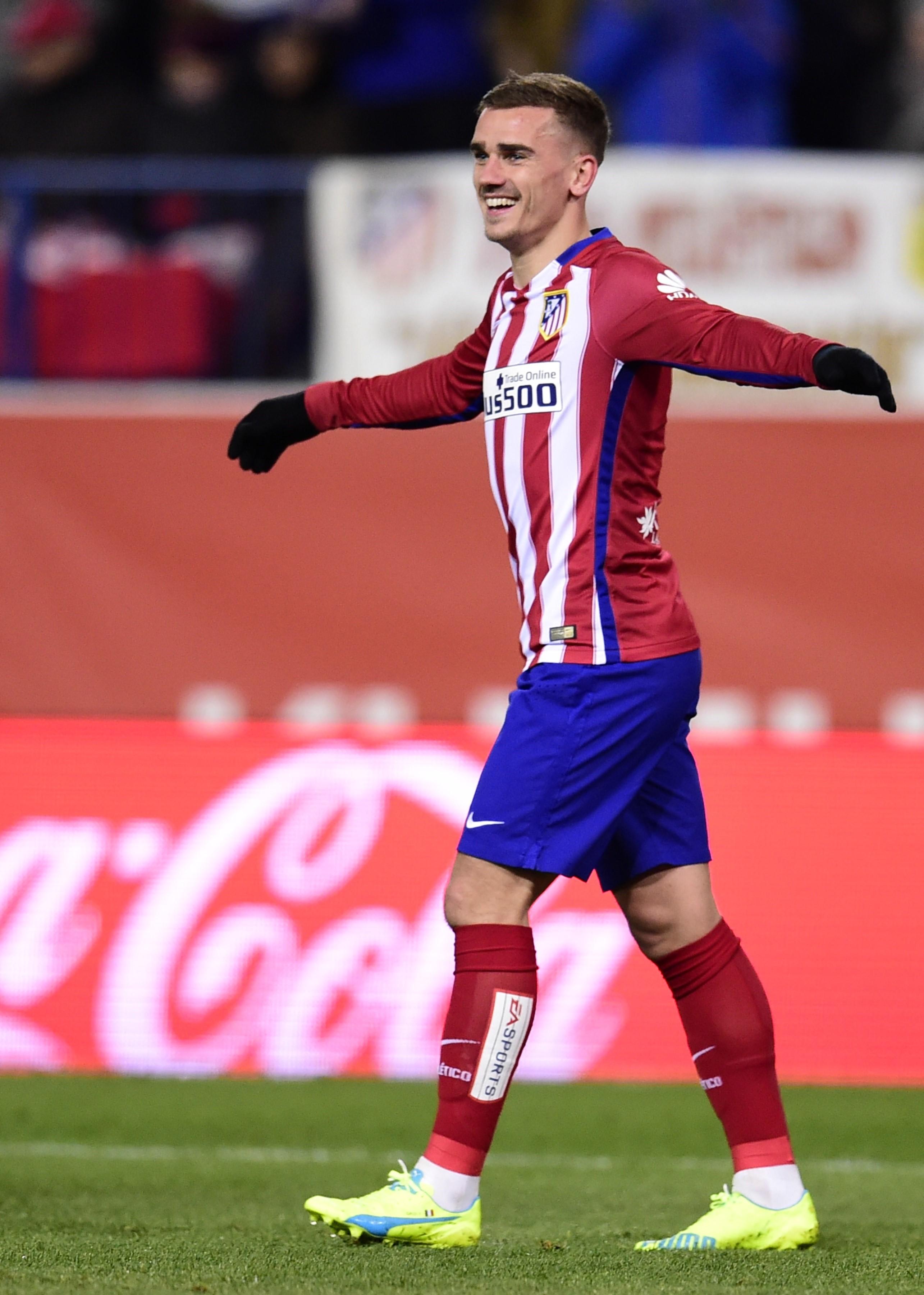 Antoine Griezmann buteur lors d'Atlético Madrid - La Corogne en Liga le 12 mars 2016