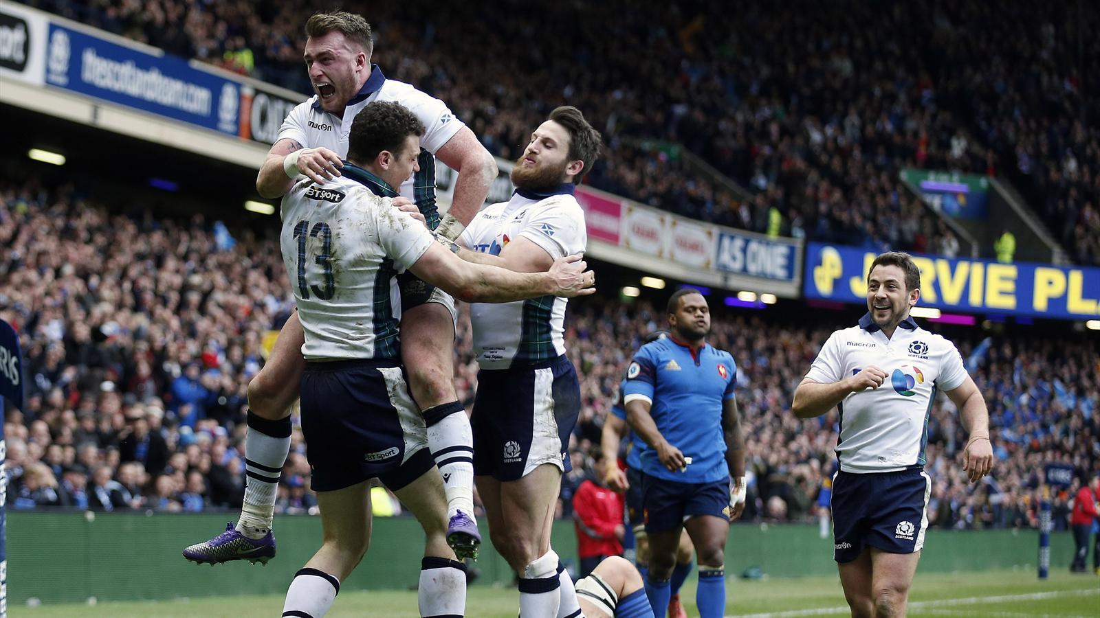 La joie des joueurs écossais face à la France - 13 mars 2016