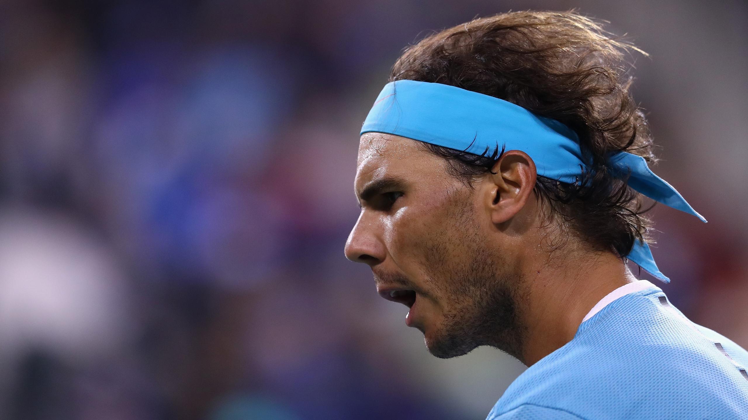 Rafael Nadal lors de son entrée en lice à Indian Wells