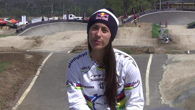 Colombia's Olympic BMX champion Mariana Pajon gears up to defend title