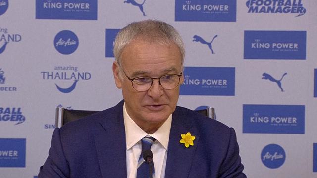 """Ranieri : """"A ce moment de la saison, seuls les points sont importants"""""""