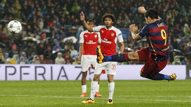 D'une magnifique volée en lucarne, Suarez a fait plier Arsenal