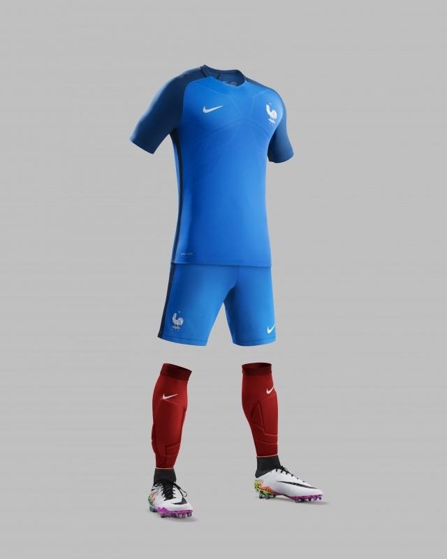 Le nouveau maillot de l'équipe de France de football.