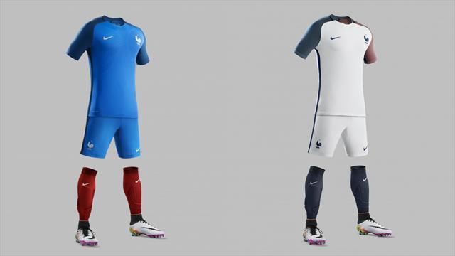 Découvrez les nouveaux maillots des Bleus