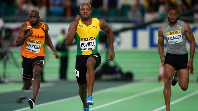 6.44 : meilleure performance mondiale pour Asafa Powell sur 60m