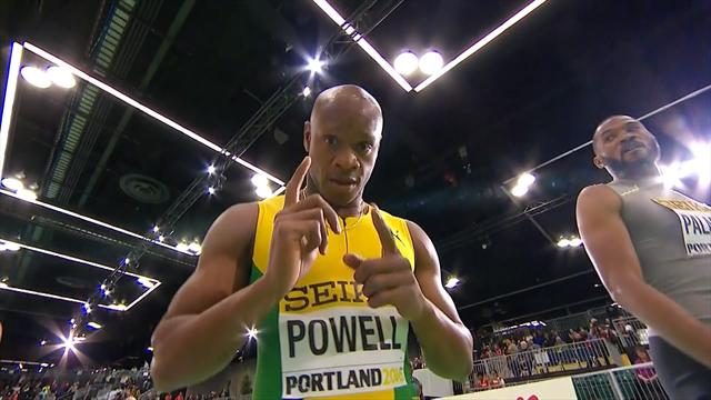 Avec un départ supersonique, Powell a signé un énorme 6.44 sur 60m : sa course en vidéo
