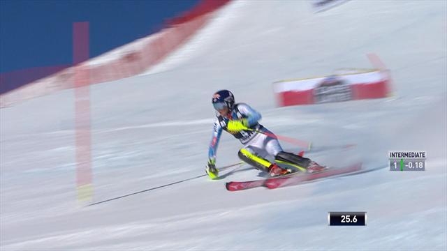 Mikaela Shiffrin domina la prima manche dello slalom