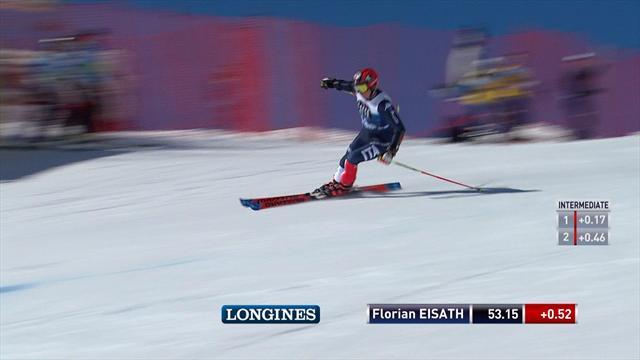 Florian Eisath terzo dopo la prima manche del gigante