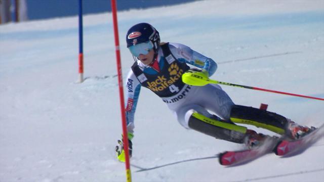 Royale, Shiffrin a survolé les deux manches du slalom