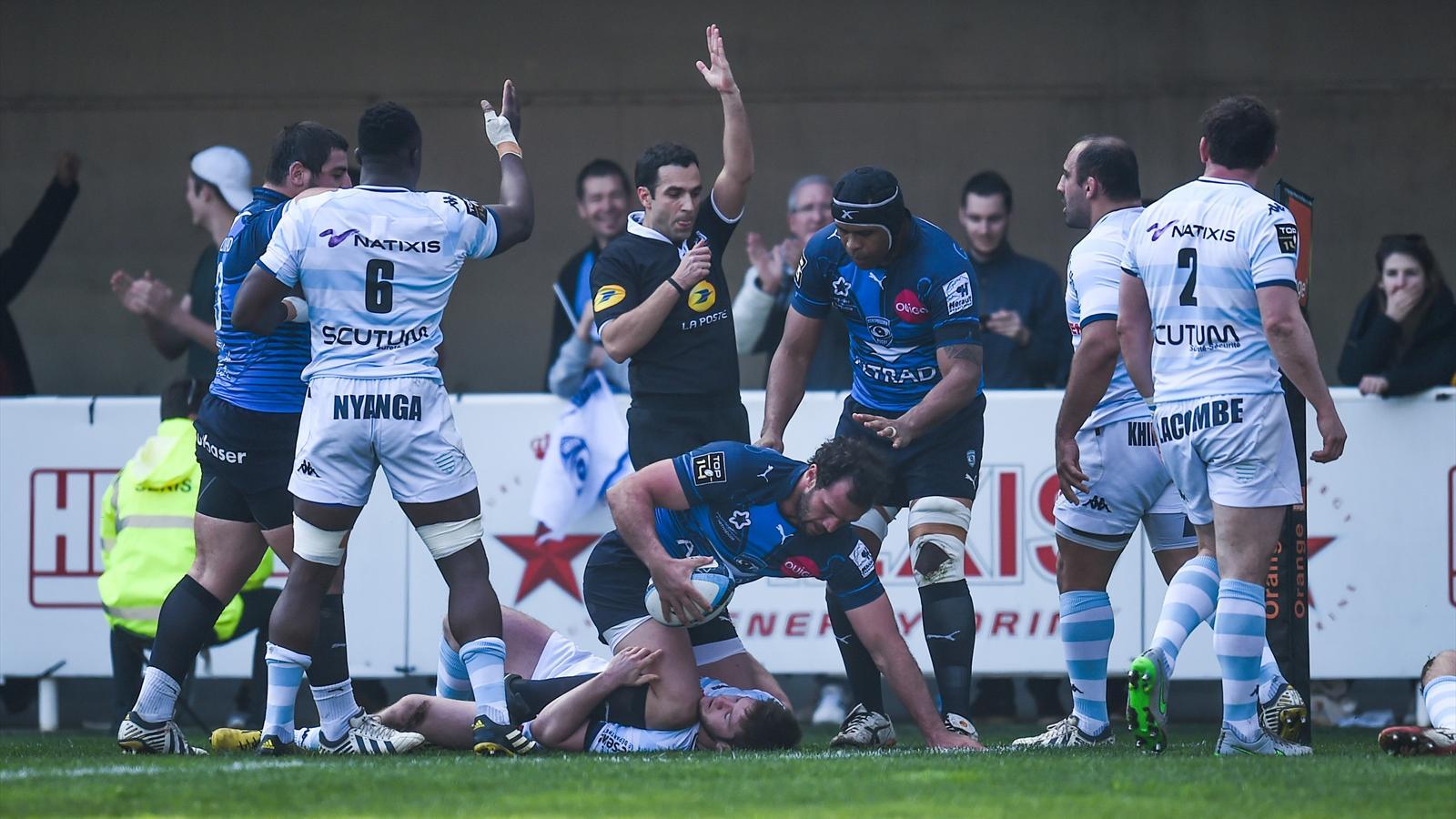 Bismarck du Plessis (Montpellier) face au Racing - 19 mars 2016