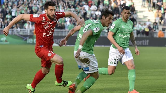 Saint-Etienne passe ses nerfs sur Montpellier