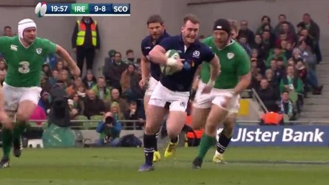 Lancé à pleine vitesse, Hogg a laissé les Irlandais sur place